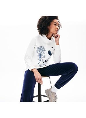 Lacoste Sweatshirt SF8691.70V Lacoste Kadın Slim Fit Baskıl